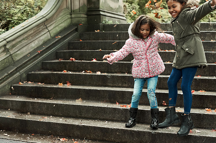 Step out with new wellies and ankle boots for kids from George at Asda