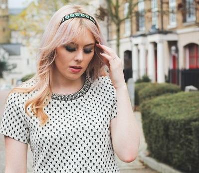 White and black polka dot dress