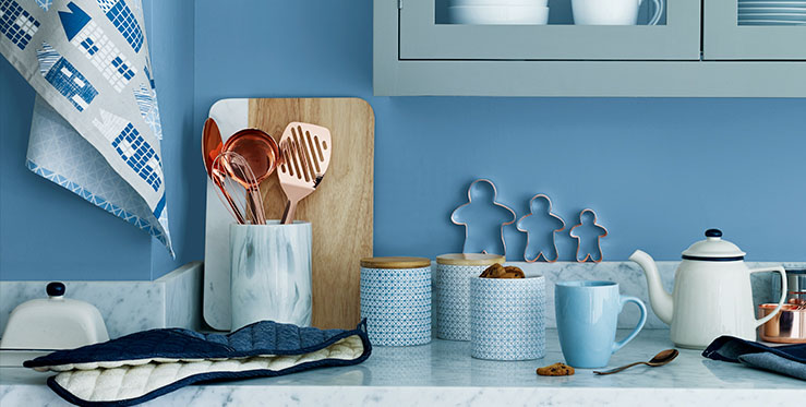 Shop our new Glacier trend for a cool way to work contemporary kitchen style
