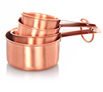 Add the copper trend into your kitchen with this set of 4 copper measuring cups at George Home