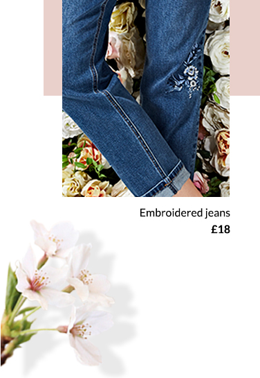 Switch up your denim collection with embroidered jeans at George.com