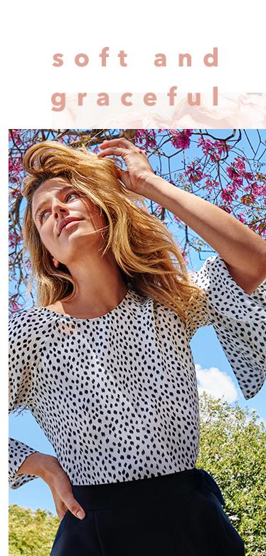 Update your seasonal wardrobe with a feminine twist at George.com
