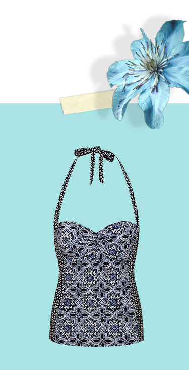 Channel prints this summer with a gorgeous printed tankini at George.com