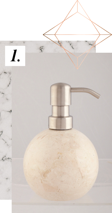 Make room on your shelf for our marble soap dispensers at George.com