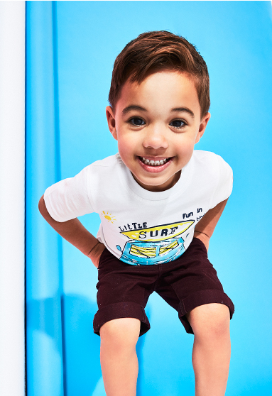 Make sure they're set for the summer with our cool selection of boys clothing at George.com