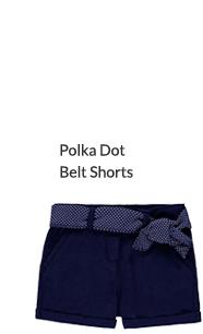 Polka Dot Belt Shorts