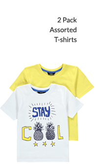 2 Pack Assorted T-shirts