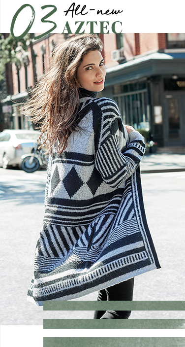 Splash some pattern across your knitwear collection with our Aztec woven cardigan