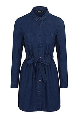 Shop Fashion Box Denim Shirt Dress at George.com