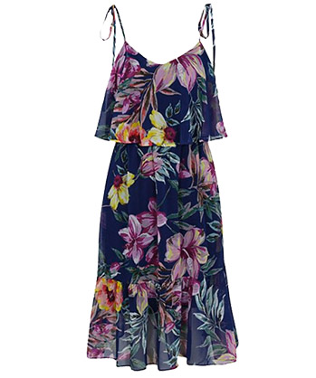 Shop Floral Ruffle Dress at George.com