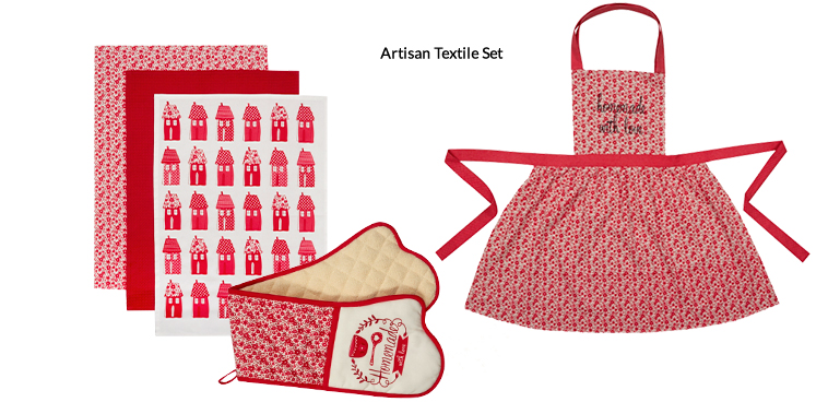 Get baking with our beautiful tea towel and apron set from George Home