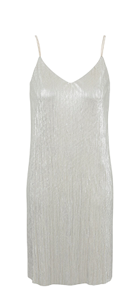 Shimmer into the night with a metallic pleated cami dress at George.com