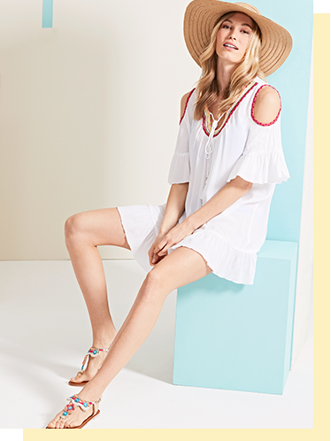 Perfect your beach-to-bar look with our selection of dresses and floppy hats at George.com