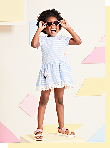 Explore our range of pretty dresses, outfits and sandals for little ones at George.com