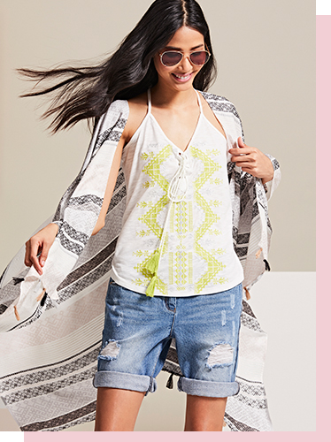 Create the ultimate summer look with our range of vests, shorts and light spring scarfs at George.com