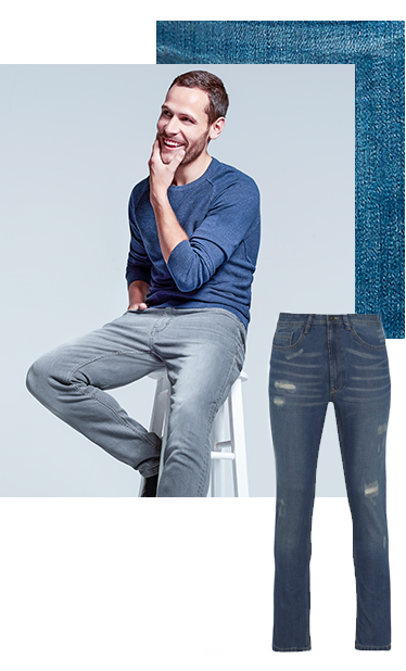 Trade in your joggers for a pair of slim cut jeans at George.com
