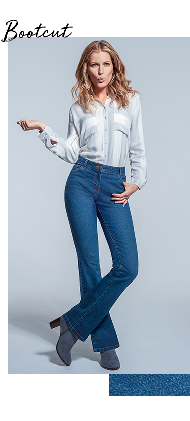 Create the illusion of an hourglass figure with our bootcut jeans at George.com
