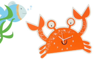 Explore our fun filled underwater wall and table clocks at George.com