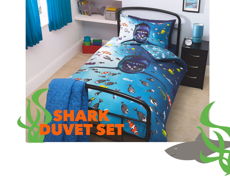 Explore our awesome selection of sea life inspired duvet sets George.com