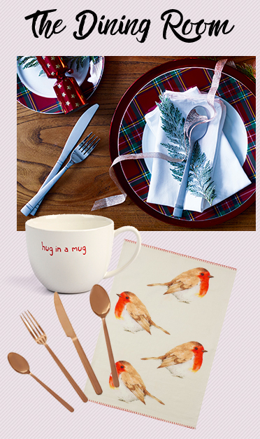 Make your Christmas table arrangement a special one with gorgeous dinnerware and cutlery at George.com
