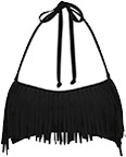 Fringe bandeau swimwear