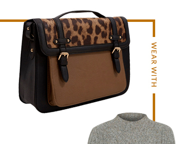 Give your outfit a pop of personality with a leopard print bag at George.com