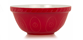 Tap into the retro baking look with this red ceramic bowl from George Home