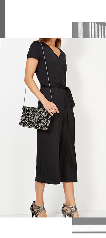 Arrive in style with a trendy culotte jumpsuit at George.com