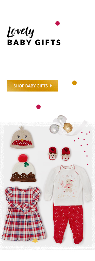 Get them in the festive spirit with our range of novelty all in ones, knitted hats and slogan bodysuits at George.com