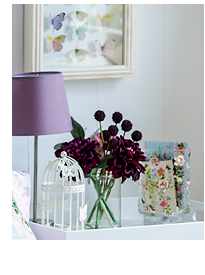 Accent your home with mauves, florals and quirky collectables this season at George.com