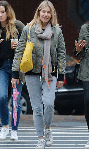 Take lead from Sienna Miller and channel a khaki bomber this winter at George.com