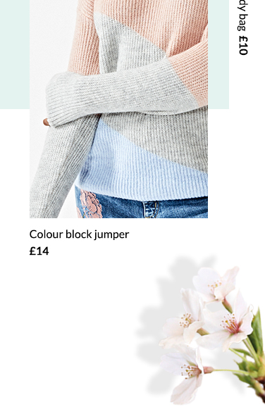 Cosy up with this season's colour block jumper at George.com