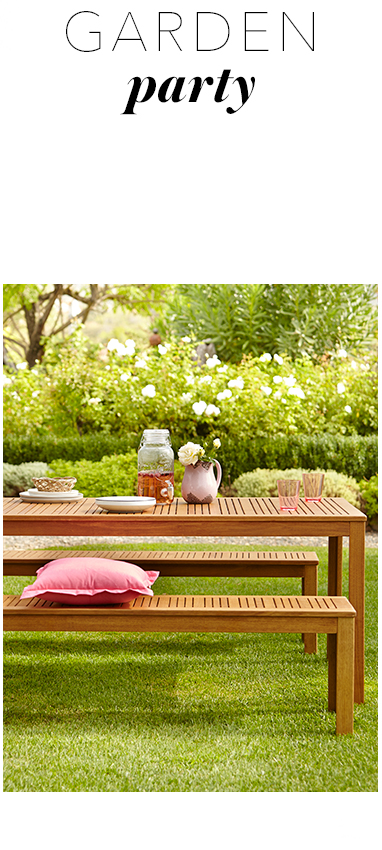 Embrace your garden with our wooden outdoor furniture range from George at Asda, from benches to outdoor seating and parasols