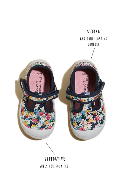 Discover comfy, flexible and lightweight first shoes at George.com