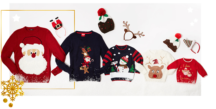 Get in the festive spirit with our collection of jumpers at George.com