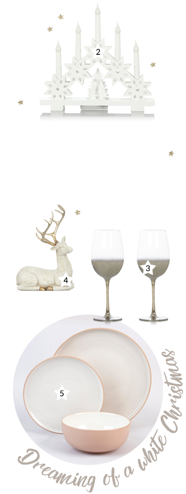 Turn your table spread into a winter wonderland with our range of white and silver decorations at George.com
