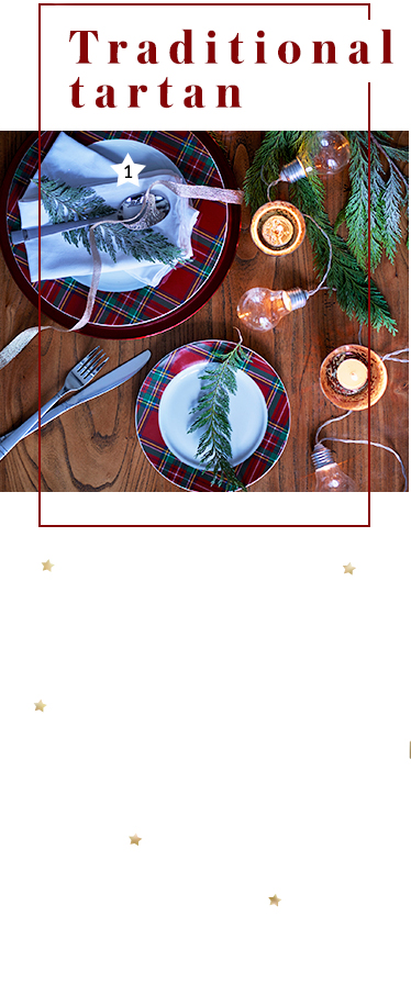 Make Christmas a traditional one with tartan table decorations at George.com