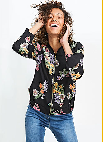 Browse our printed bomber jacket at George.com