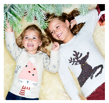 Put the fun back into their winter wardrobe with our range of novelty jumpers at George.com