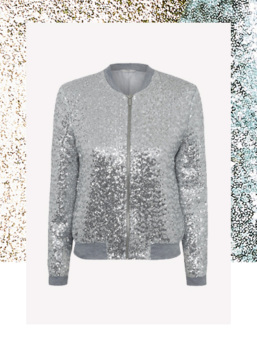 Elevate your party look with our glamorous sequin bomber jacket at George.com