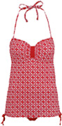 Red bandeau swimsuit available at George.com