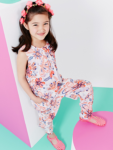 Discover the freshest girls' all-in-ones, dresses and tops in red white and blue for summer with George at ASDA