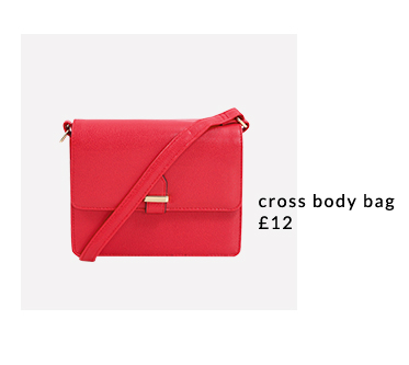 Accessorise your look with a colourful cross body bag at George.com