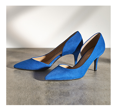 Add a pop of colour to your outfit with block colour heels at George.com