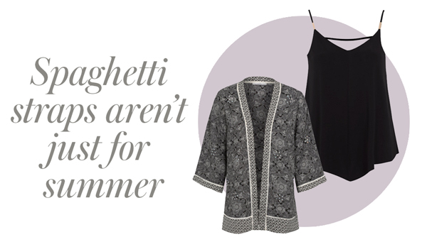 Keep warm and pair your summer cami tops with a stylish kimono