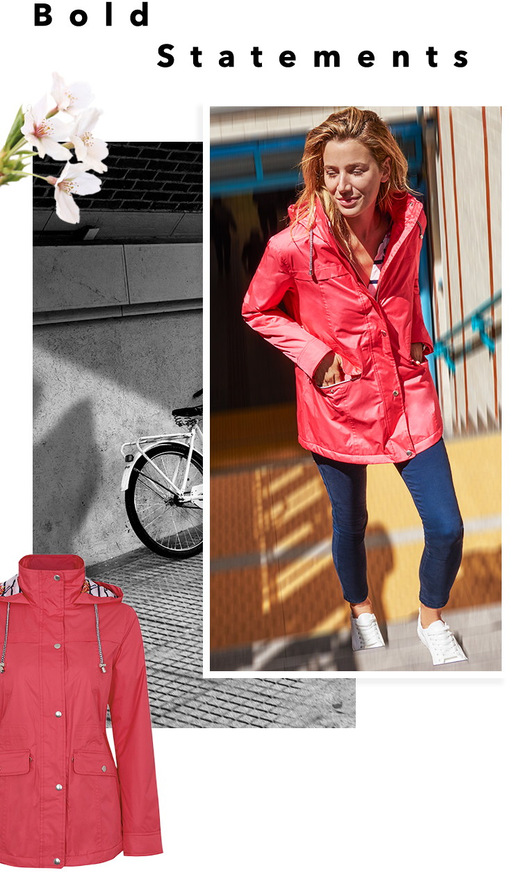 Whether rain or shine, brighten up your wardrobe with a pink waterproof jacket at George.com