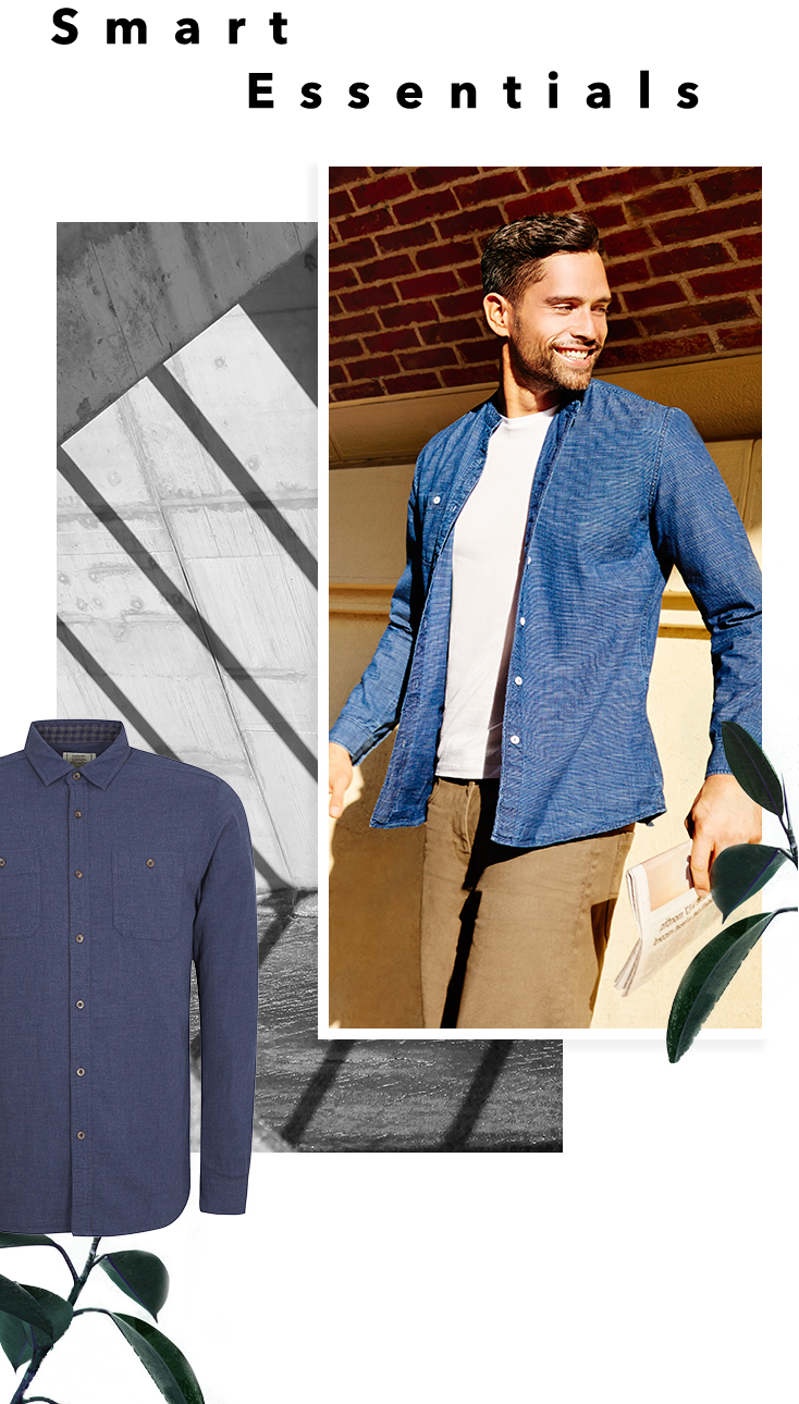 Reinvent a classic with a crisp denim shirt at George.com