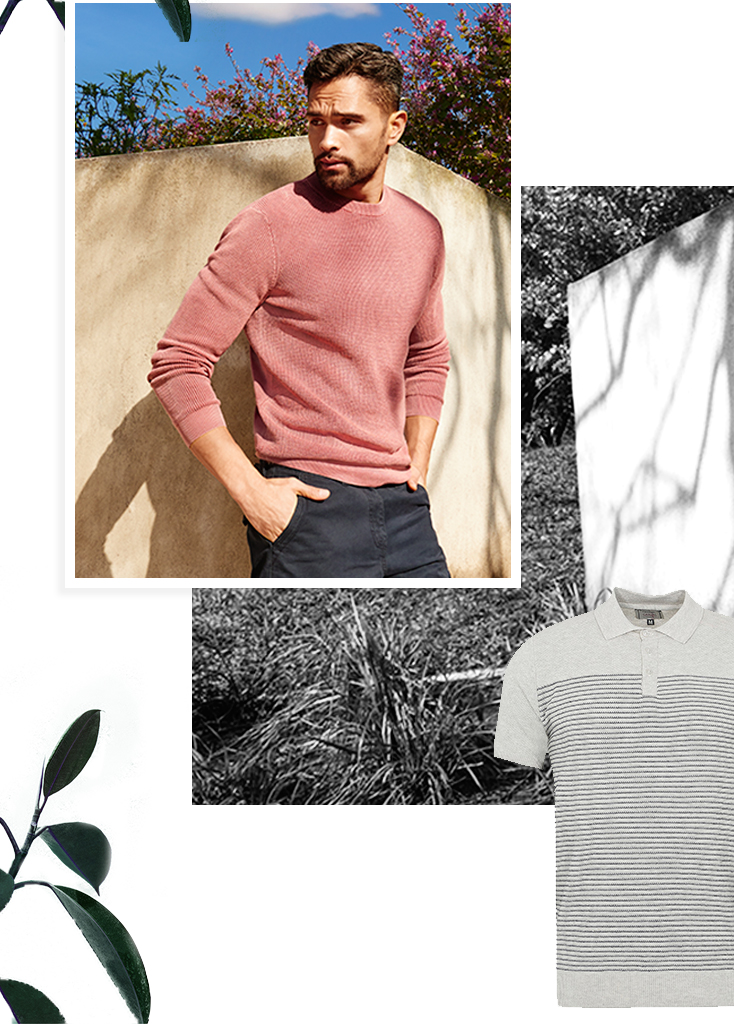 Smarten up your spring wardrobe with a pastel pink jumper at George.com