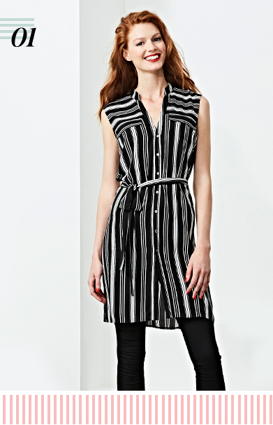 Step into the vertical striped dress trend with our new arrivals from George at ASDA