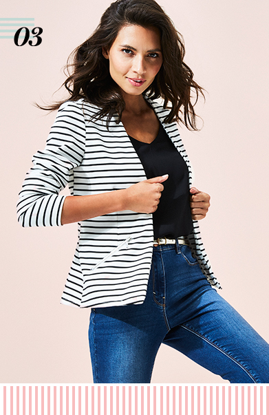 Get set for work with striped blazers, striped cropped jackets for women and throw-on jackets from George at ASDA